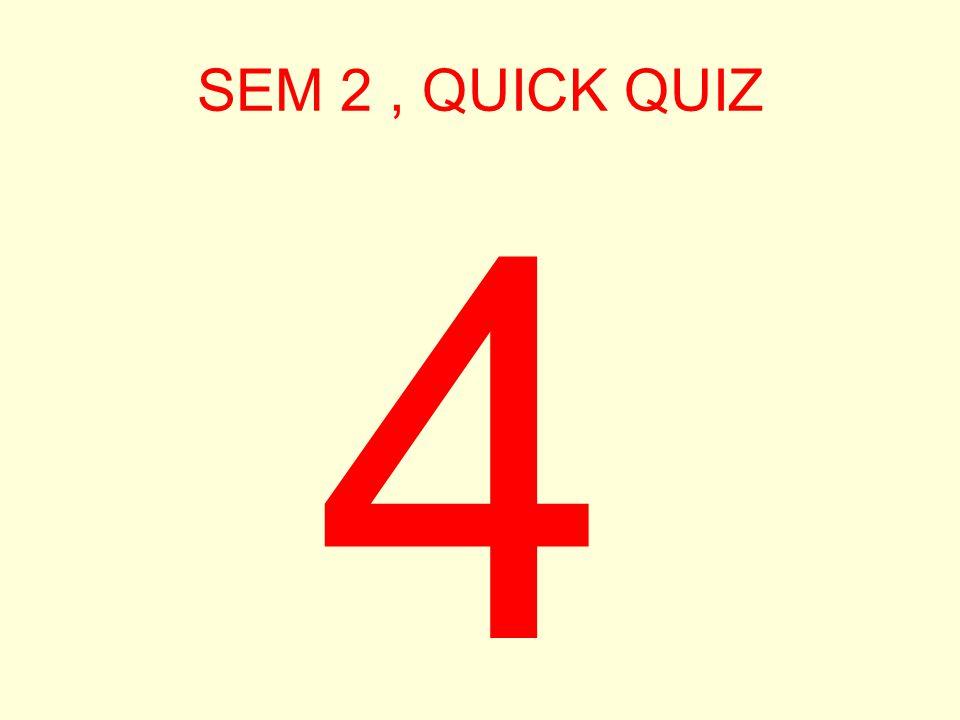 SEM 2, QUICK QUIZ 5
