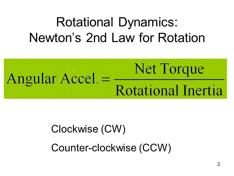 Rotational Inertia & Energy