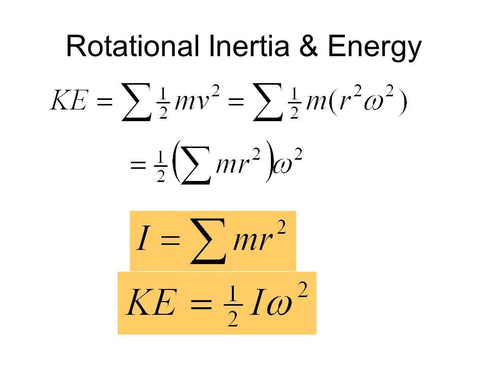 24 Mass-Distribution Larger radius Larger Speed  Larger Effort Rotational Inertia ~ R2R2