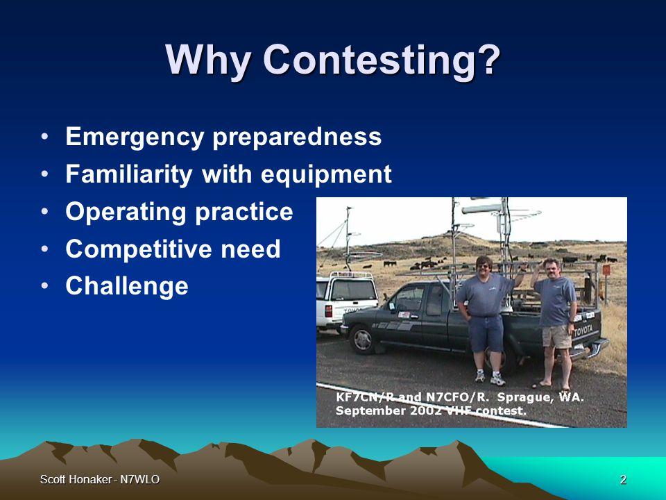 Scott Honaker - N7WLO3 Why VHF.