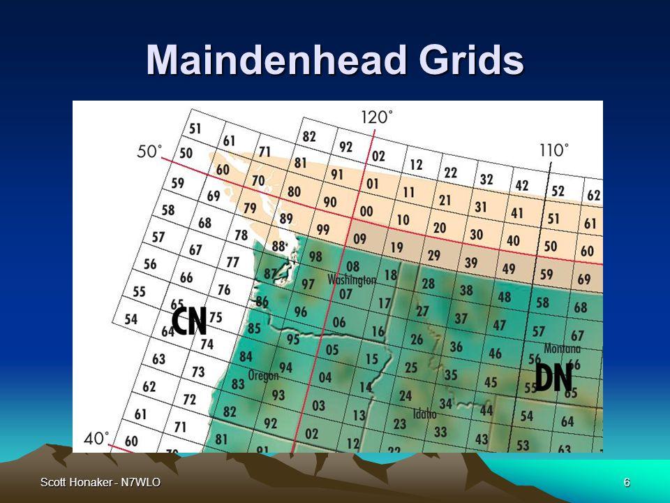 Scott Honaker - N7WLO6 Maindenhead Grids