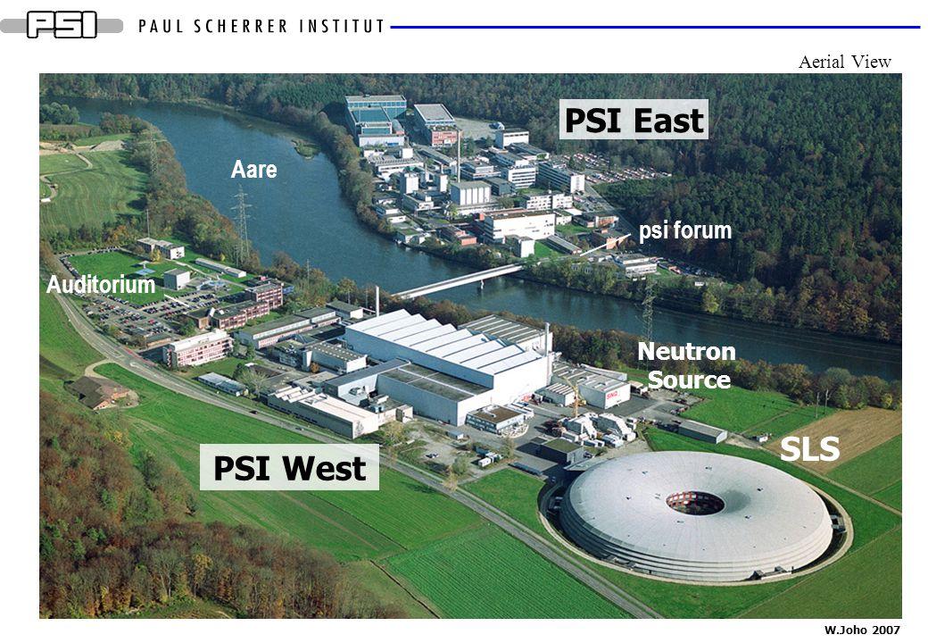 W.Joho 2007 PSI East PSI West Aare psi forum Auditorium SLS Neutron Source Aerial View