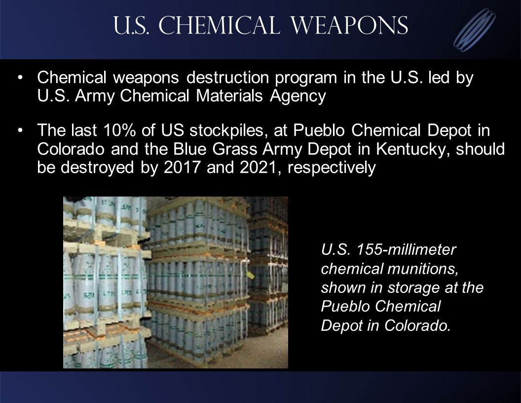 U.S. Chemical Weapons Chemical weapons destruction program in the U.S.
