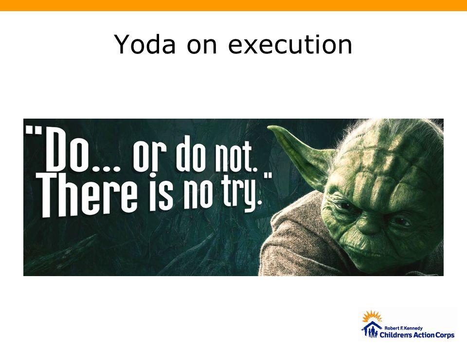 Yoda on execution