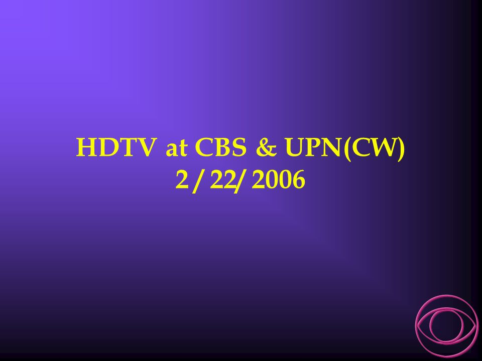 Robert P. Seidel CBS Television Network V.P. Engineering & Technology