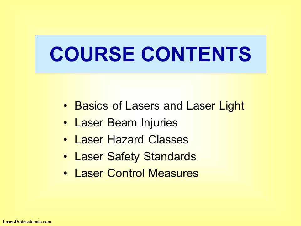 L L ight A A mplification by S S timulated E E mission of R R adiation Laser-Professionals.com BASICS OF LASERS AND LASER LIGHT