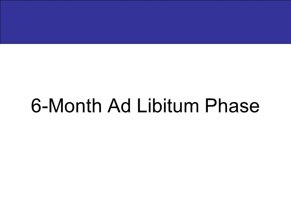 6-Month Ad Libitum Phase