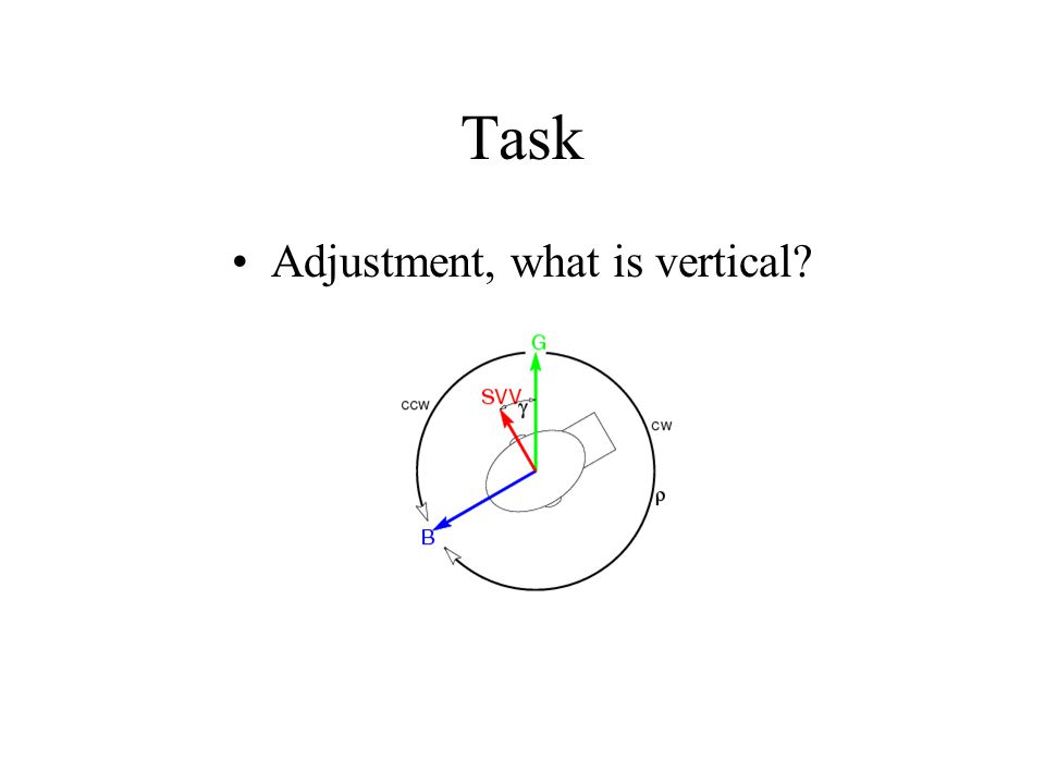 Task Adjustment, what is vertical