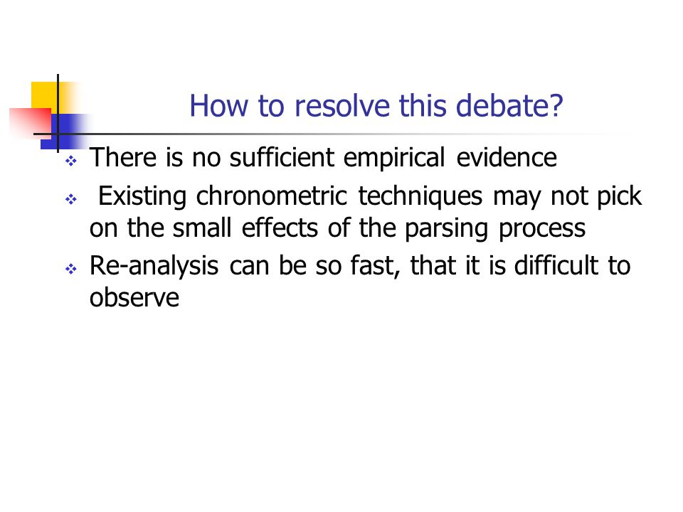 How to resolve this debate.