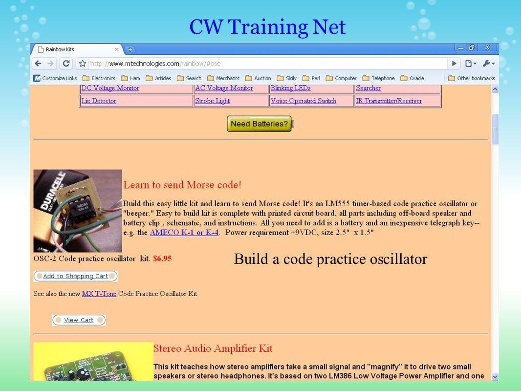CW Training Net Build a mic interface
