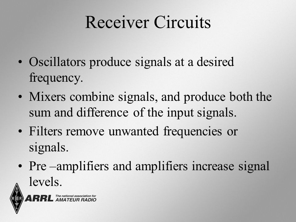Receiver Circuits Oscillators produce signals at a desired frequency.