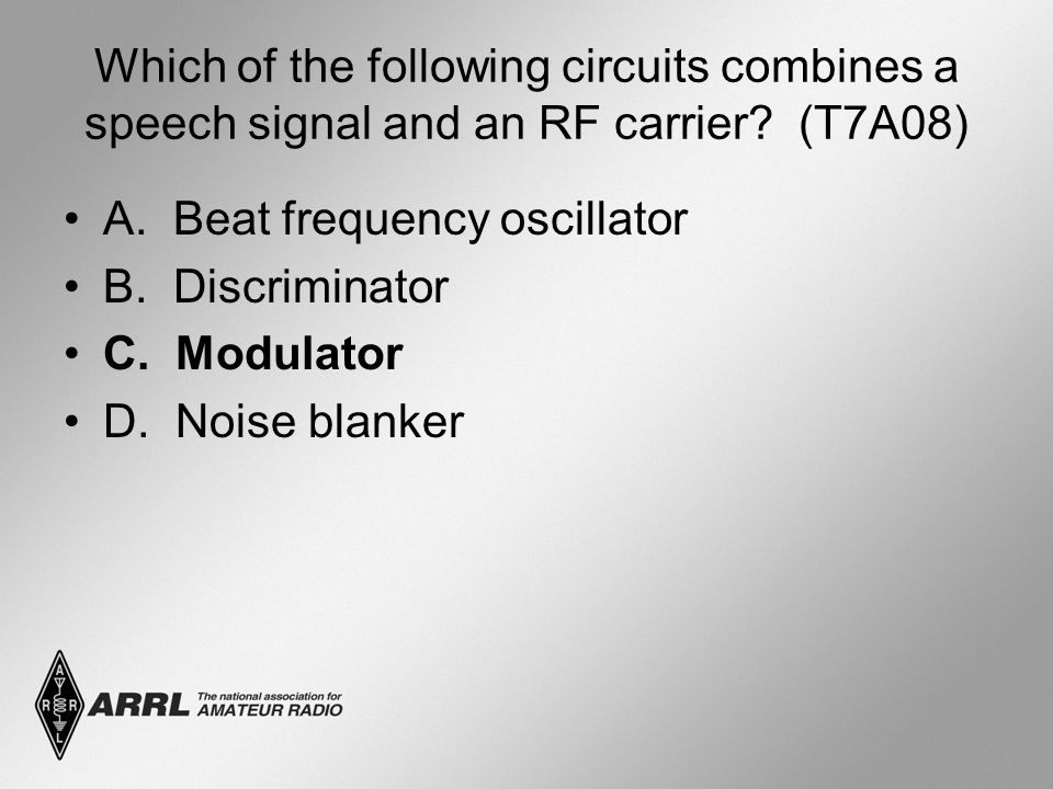 Which of the following circuits combines a speech signal and an RF carrier.