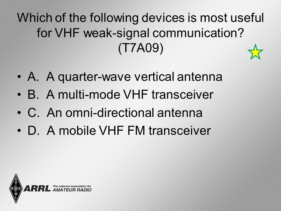 Which of the following devices is most useful for VHF weak-signal communication.