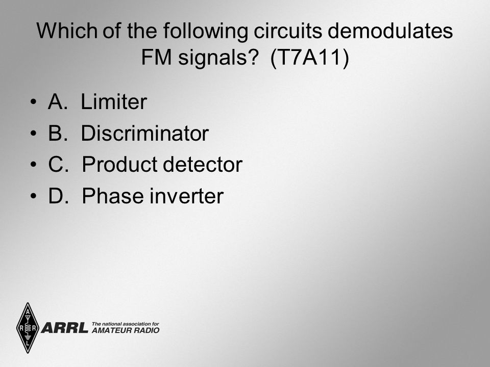Which of the following circuits demodulates FM signals.