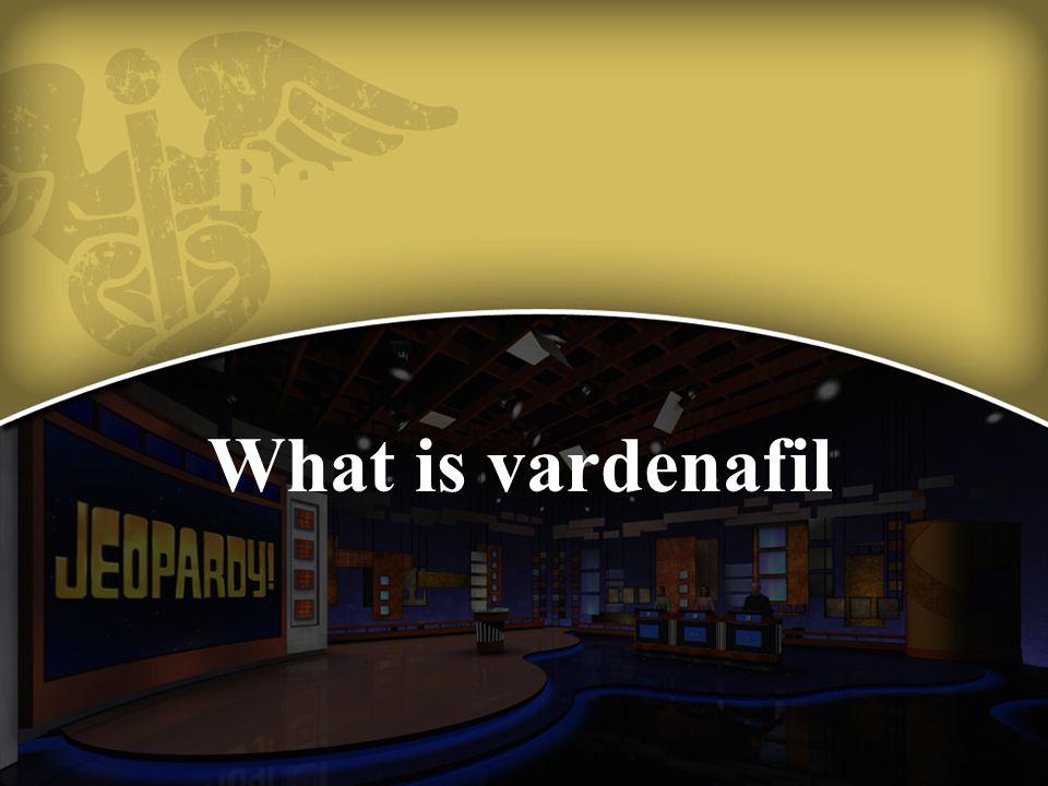 What is vardenafil