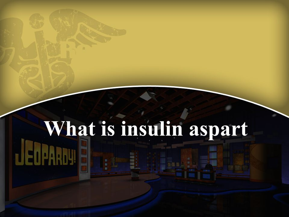 What is insulin aspart