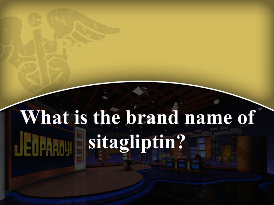 What is the brand name of sitagliptin