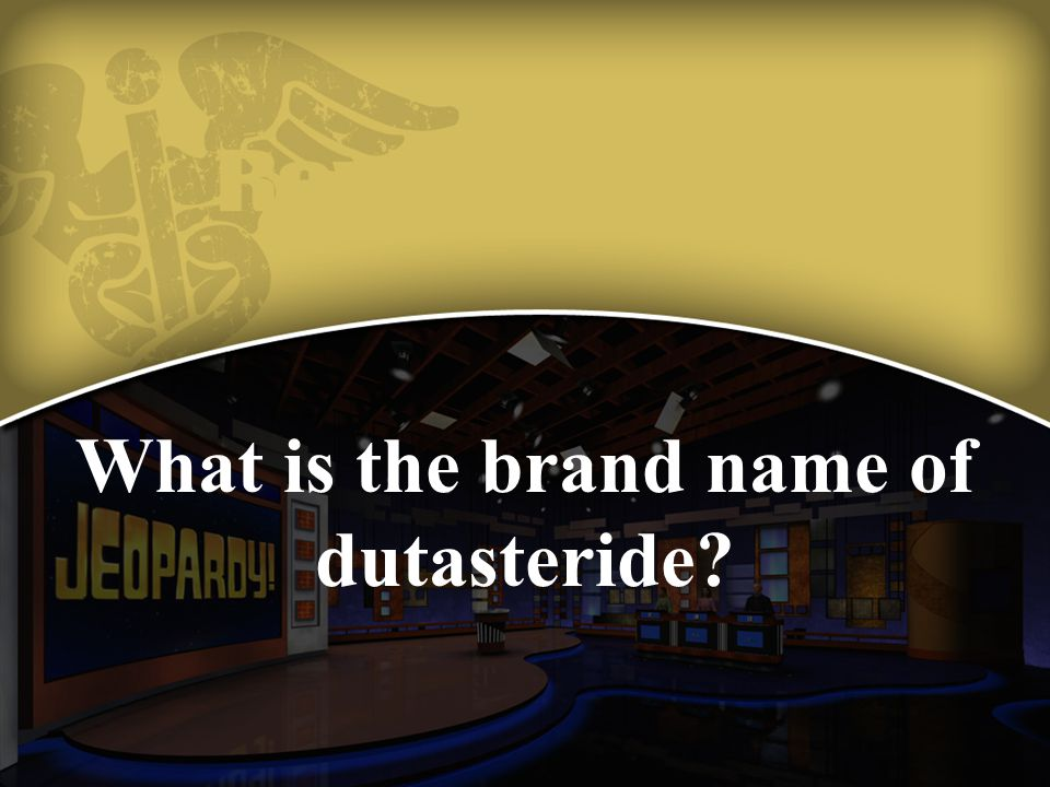 What is the brand name of dutasteride