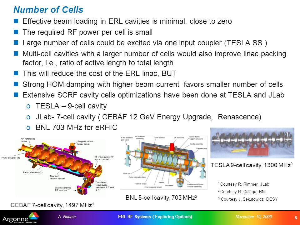 ERL RF Systems ( Exploring Options)A.