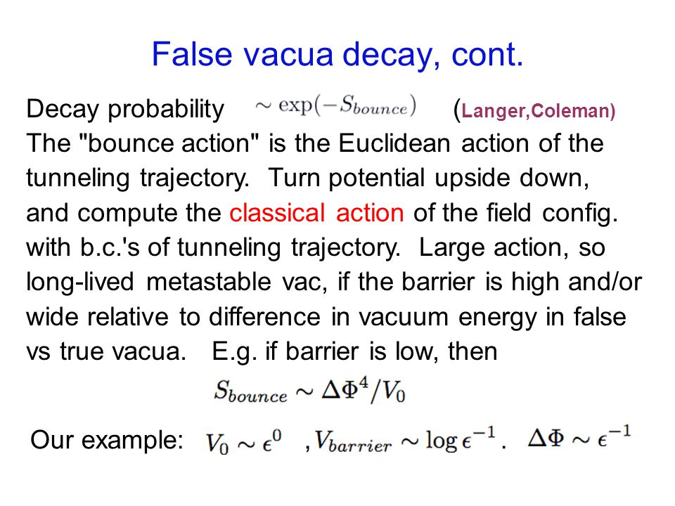 False vacua decay, cont.