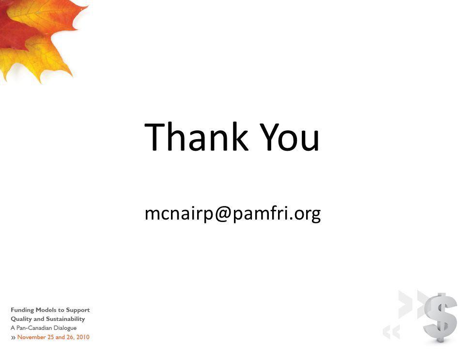 Thank You mcnairp@pamfri.org