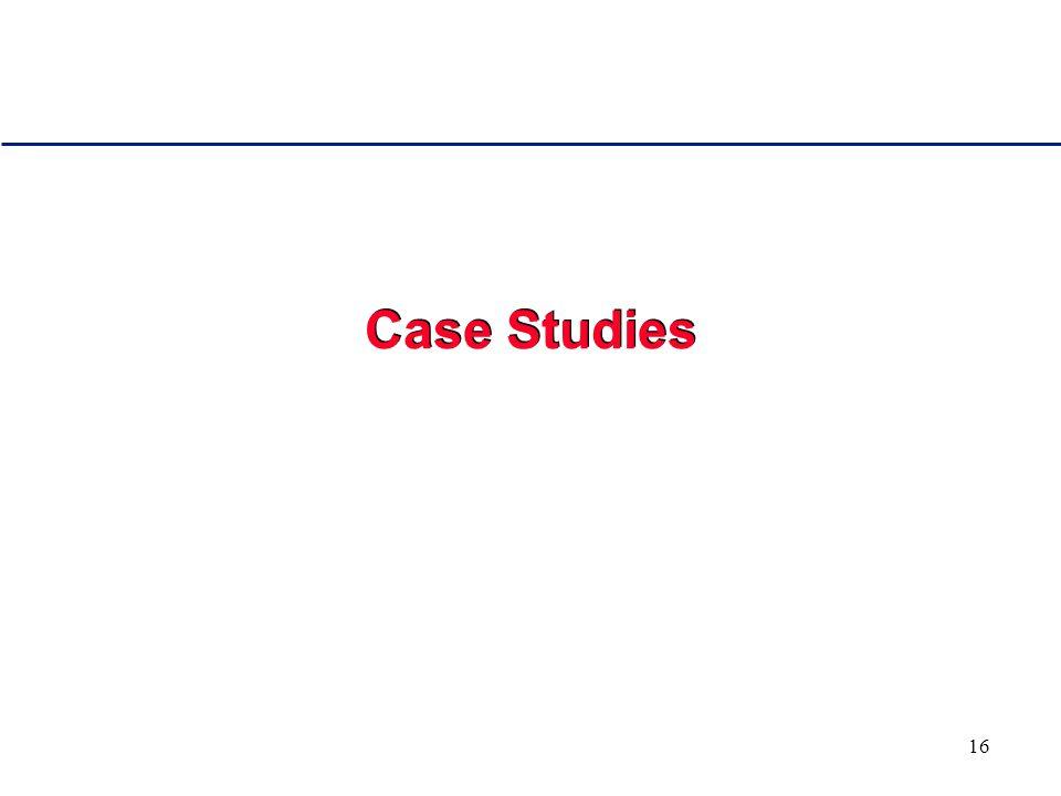 16 Case Studies