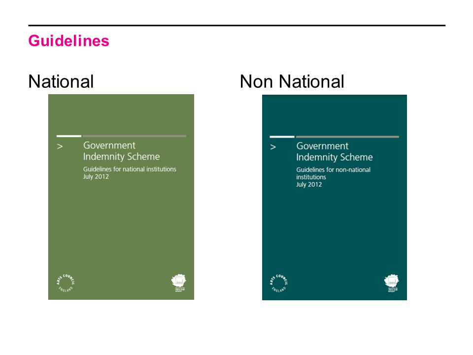 Guidelines NationalNon National