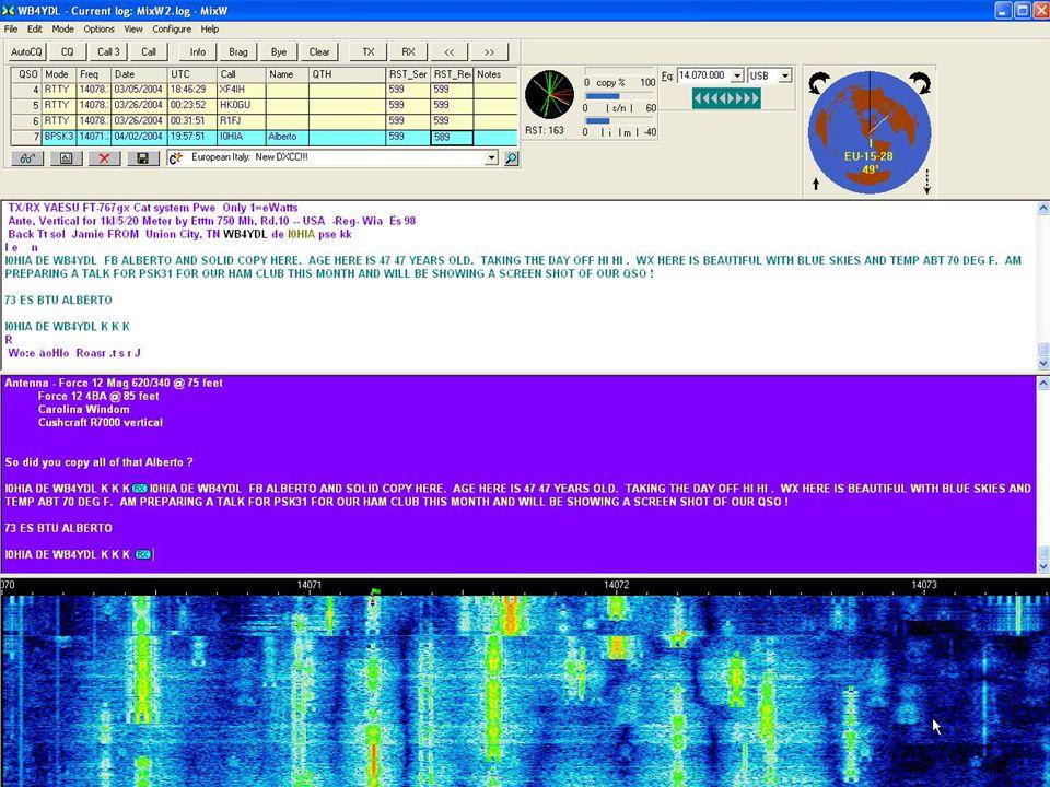 Basic PSK31 Station HF Transceiver Computer Sound Card COM Port PSK31 Application Speaker Out Line In Line Out Mic Input DTR or RTS of COM n Antenna