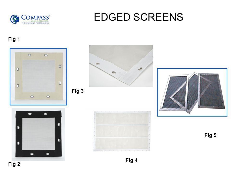 EDGED SCREENS Fig 1 Fig 2 Fig 3 Fig 4 Fig 5
