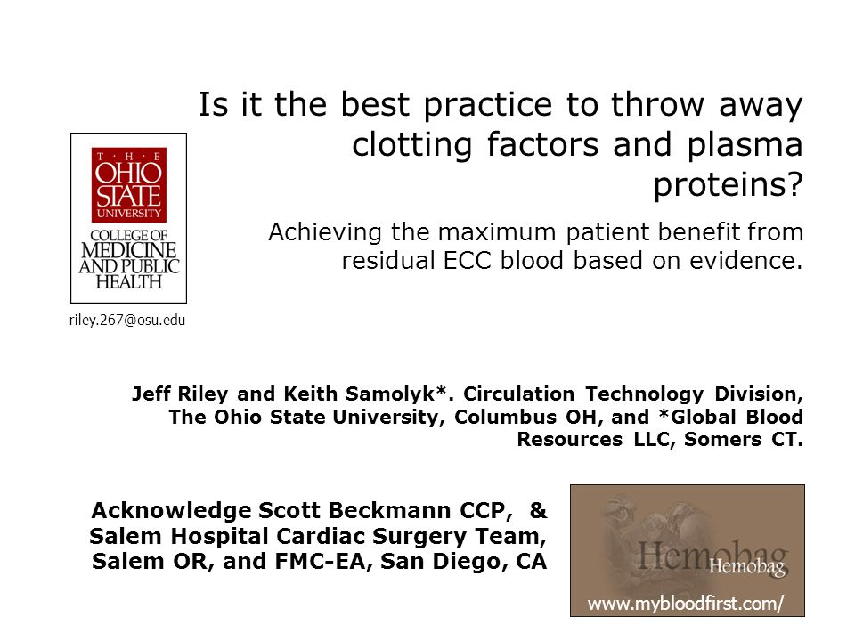 The Boston Meeting October 2005 Meta-Analysis: Patient (1 hr) post infusion [total protein] Source (n) DI Group Cohen d (p): HC v.