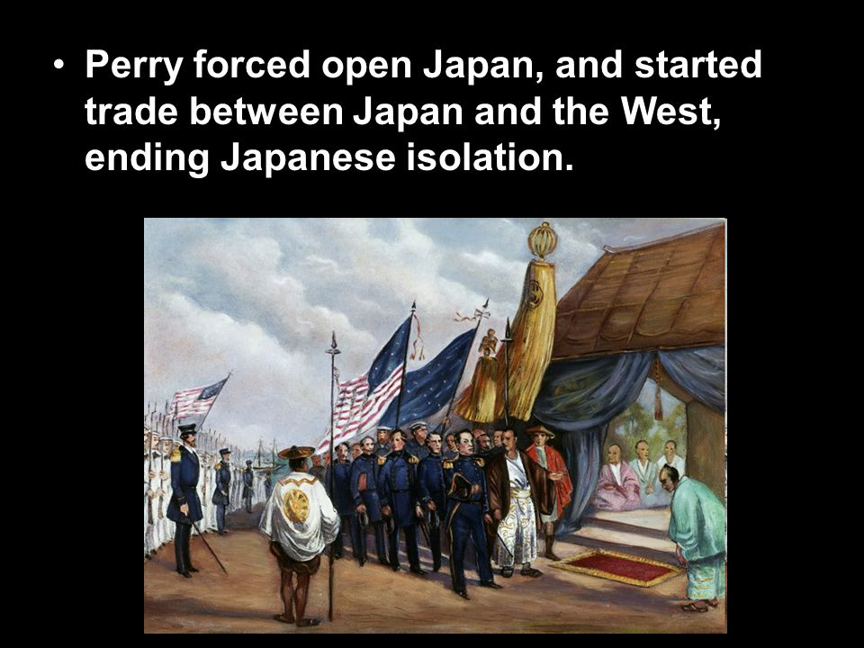In response, the Japanese restored Emperor Meiji to power, bringing change to Japan.