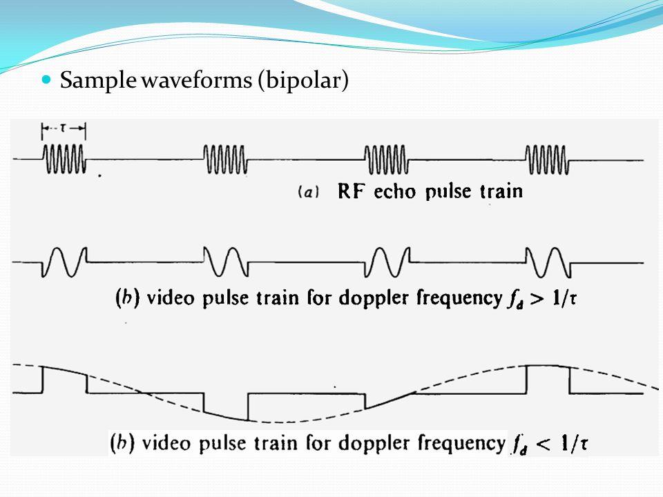 Sample waveforms (bipolar)