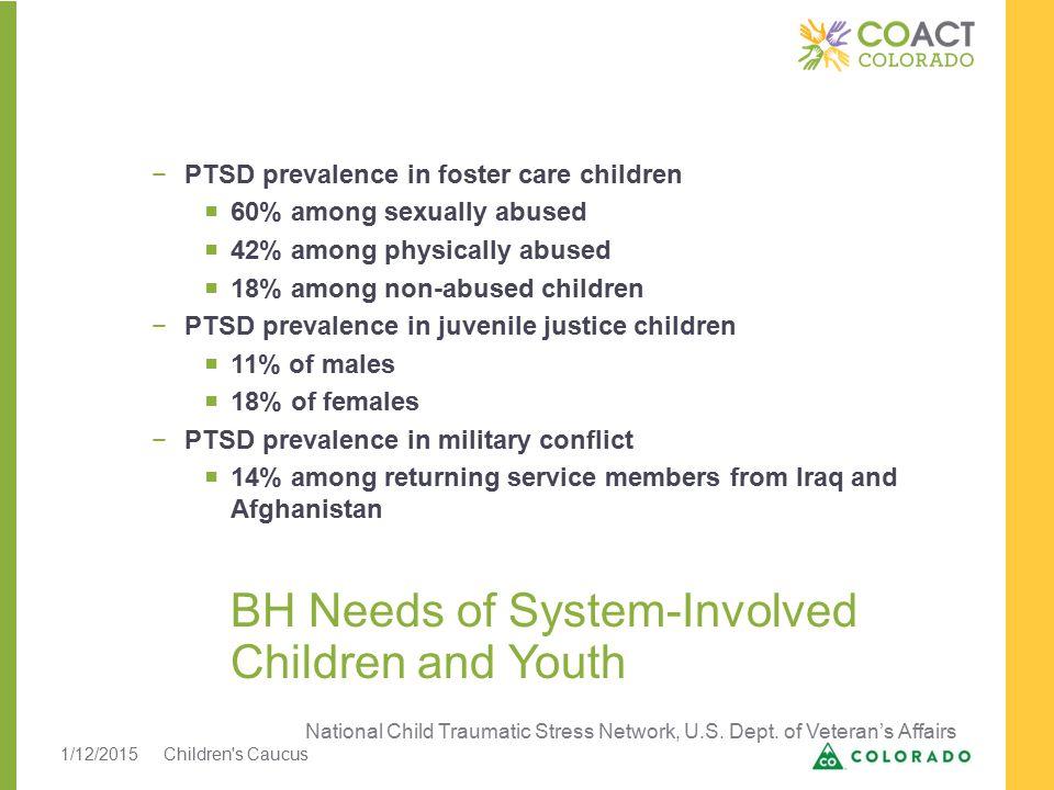 CCAR Scores at Admission by Child Welfare Status 1/12/2015Children s Caucus5