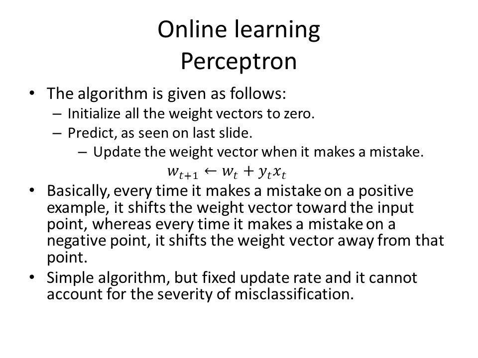 Online learning Perceptron