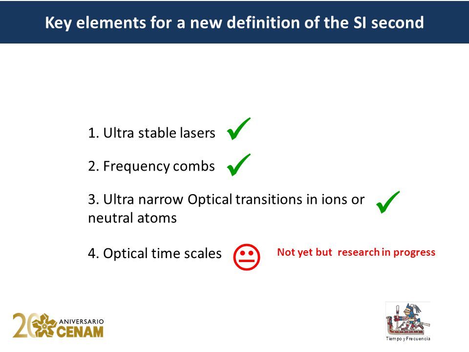  1. Ultra stable lasers 2. Frequency combs 3.