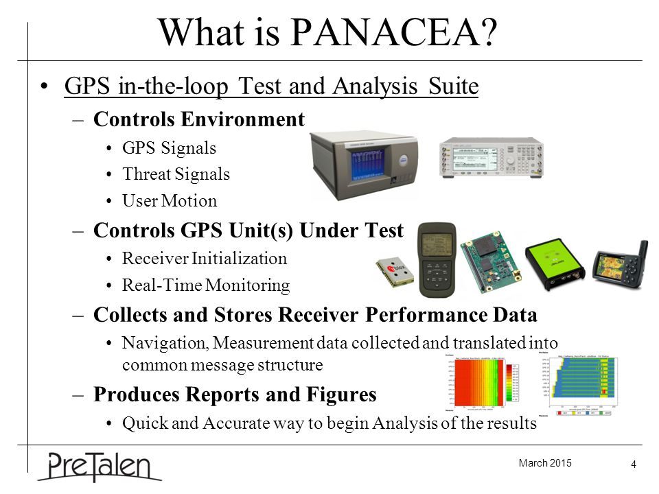 March 2015 4 What is PANACEA.