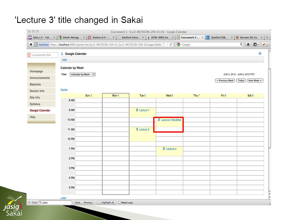 Lecture 3 title changed in Sakai