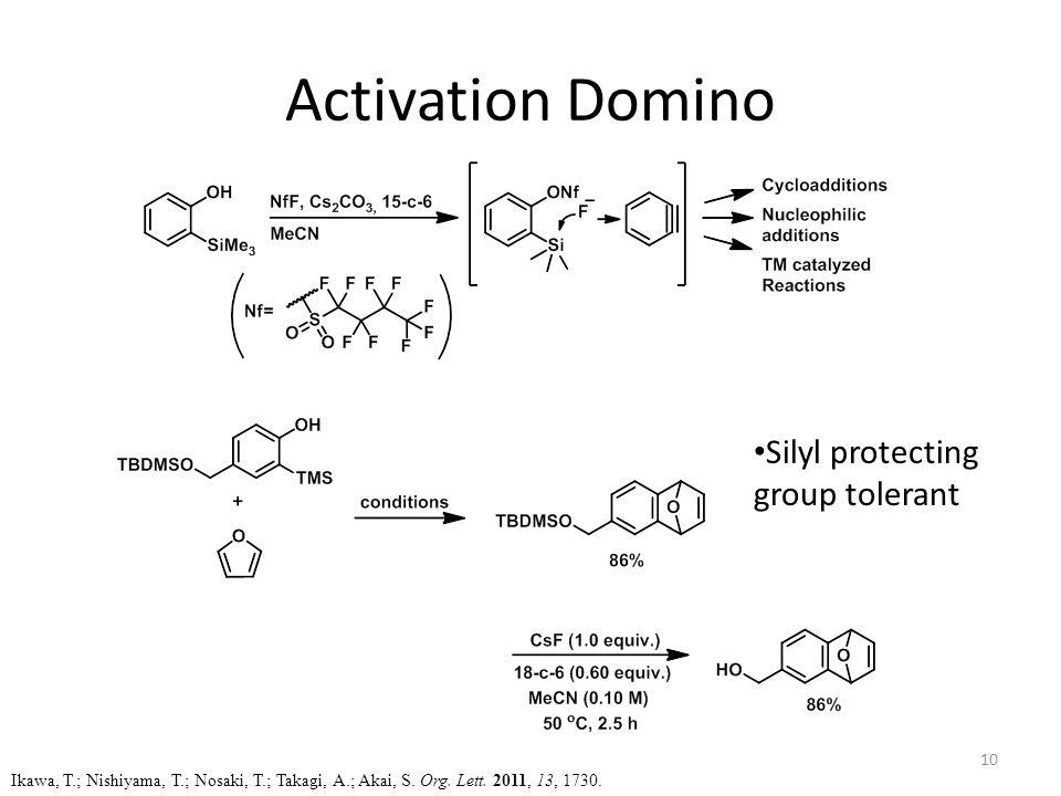 Activation Domino Ikawa, T.; Nishiyama, T.; Nosaki, T.; Takagi, A.; Akai, S.