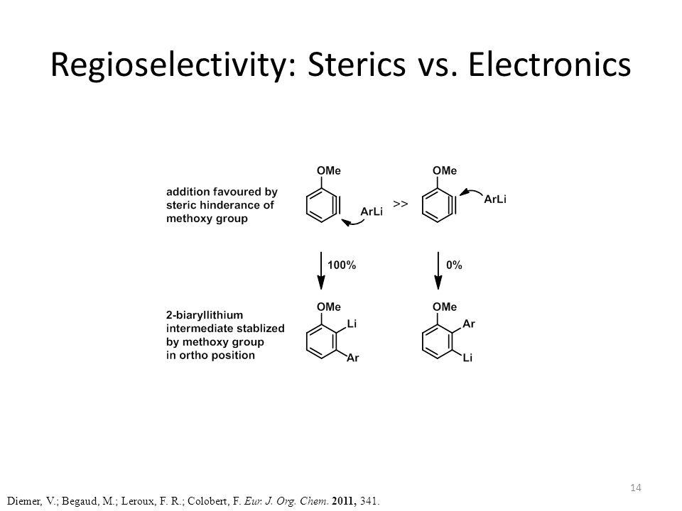 Regioselectivity: Sterics vs. Electronics Diemer, V.; Begaud, M.; Leroux, F.