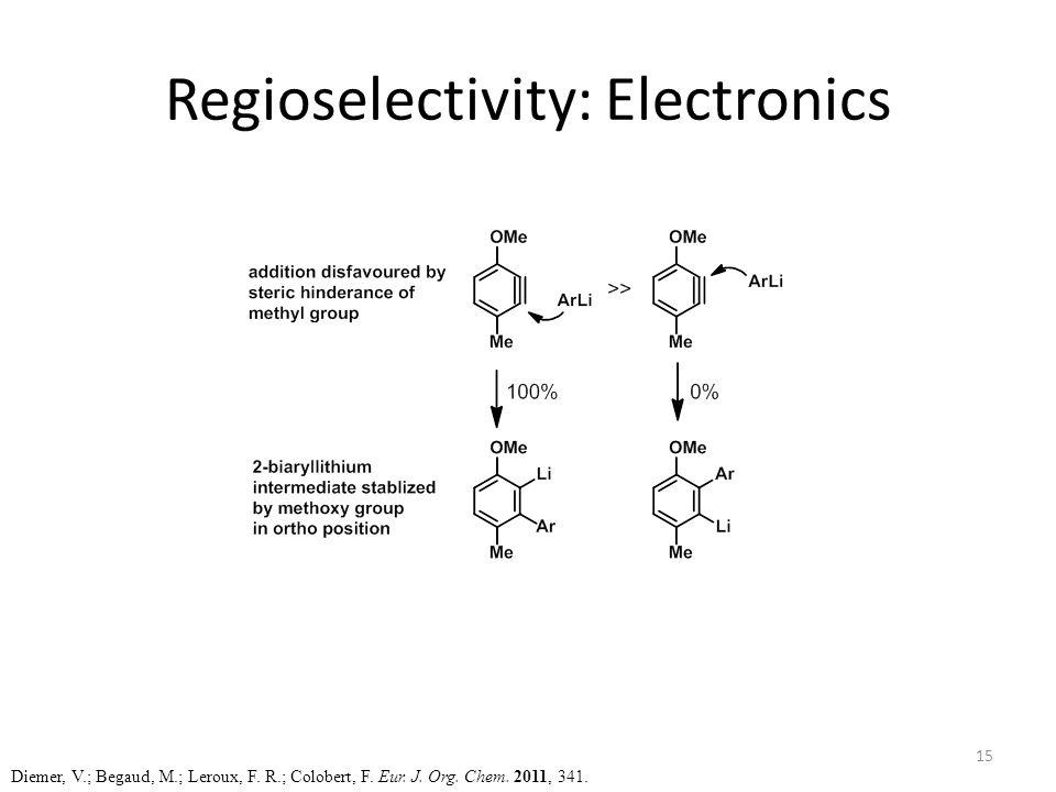 Regioselectivity: Electronics Diemer, V.; Begaud, M.; Leroux, F.