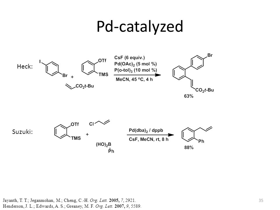 Pd-catalyzed Heck: Suzuki: Jayanth, T. T.; Jeganmohan, M.; Cheng, C.-H.