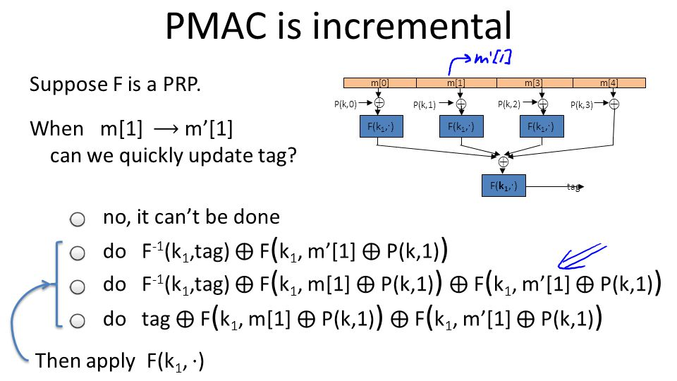 Template vertLeftWhite2 PMAC is incremental Suppose F is a PRP.