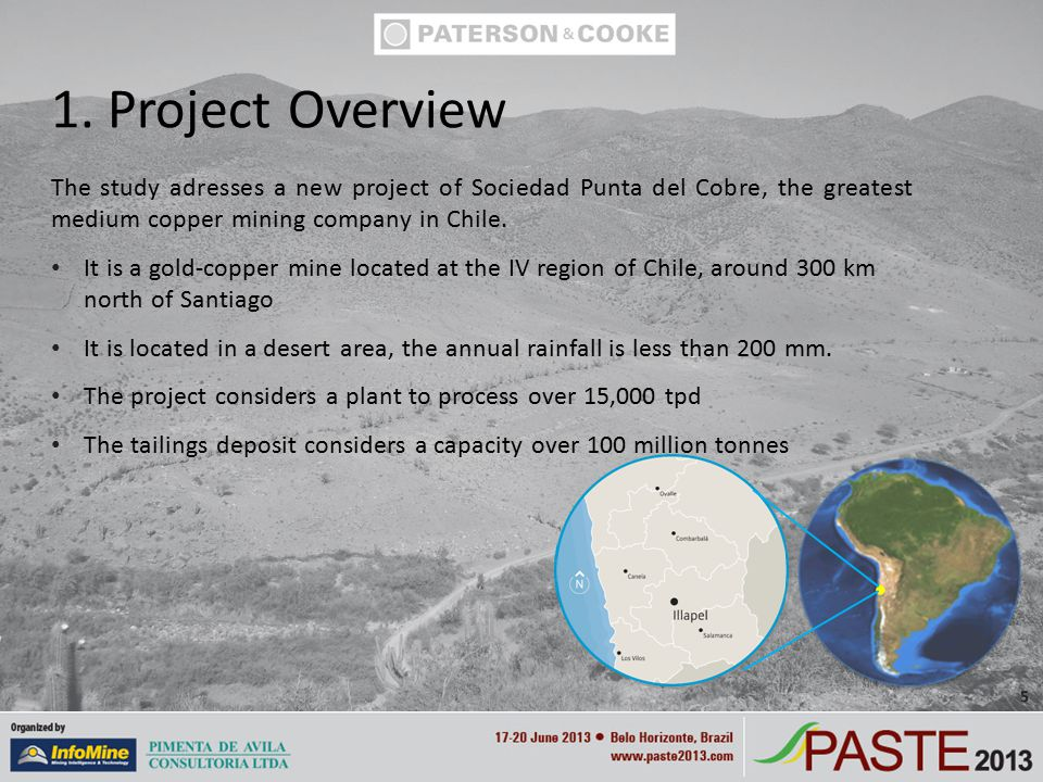 The study adresses a new project of Sociedad Punta del Cobre, the greatest medium copper mining company in Chile.