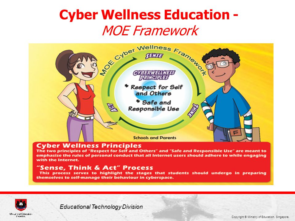 Copyright © Ministry of Education, Singapore. Educational Technology Division Cyber Wellness Education - MOE Framework