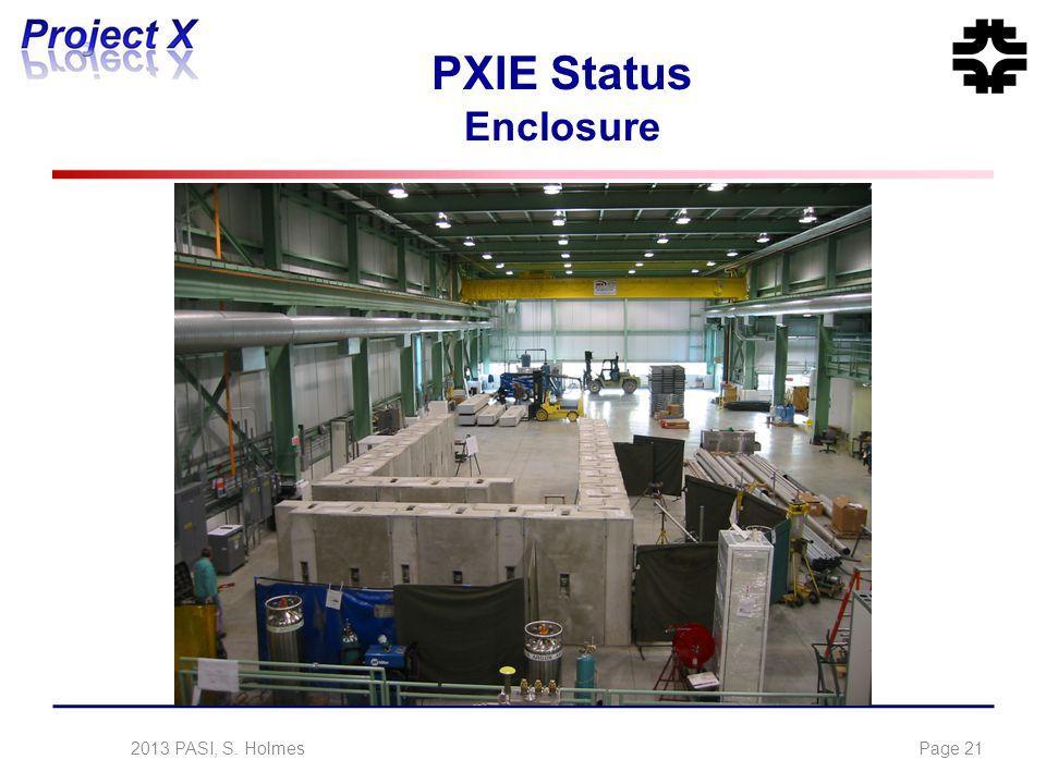 PXIE Status Enclosure 2013 PASI, S. HolmesPage 21