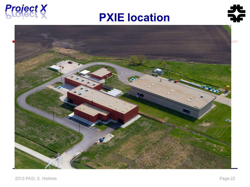 PXIE location 2013 PASI, S. HolmesPage 22