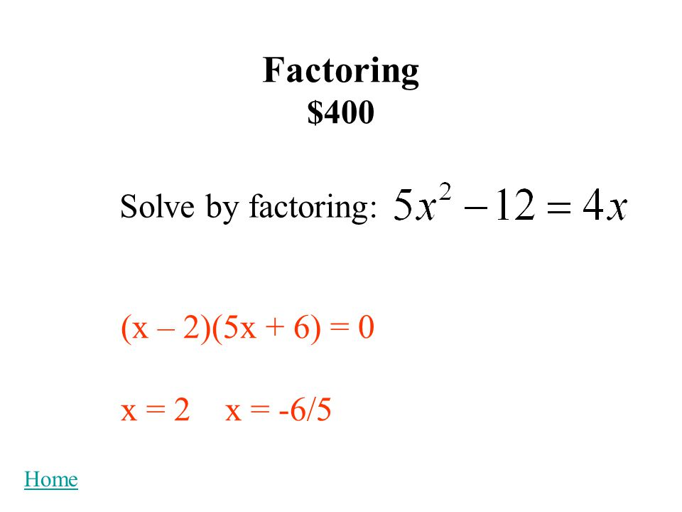 Graphing $200 What is/are the x-intercept(s) of the graph of x-intercepts: (5,0) and (-2,0) Home