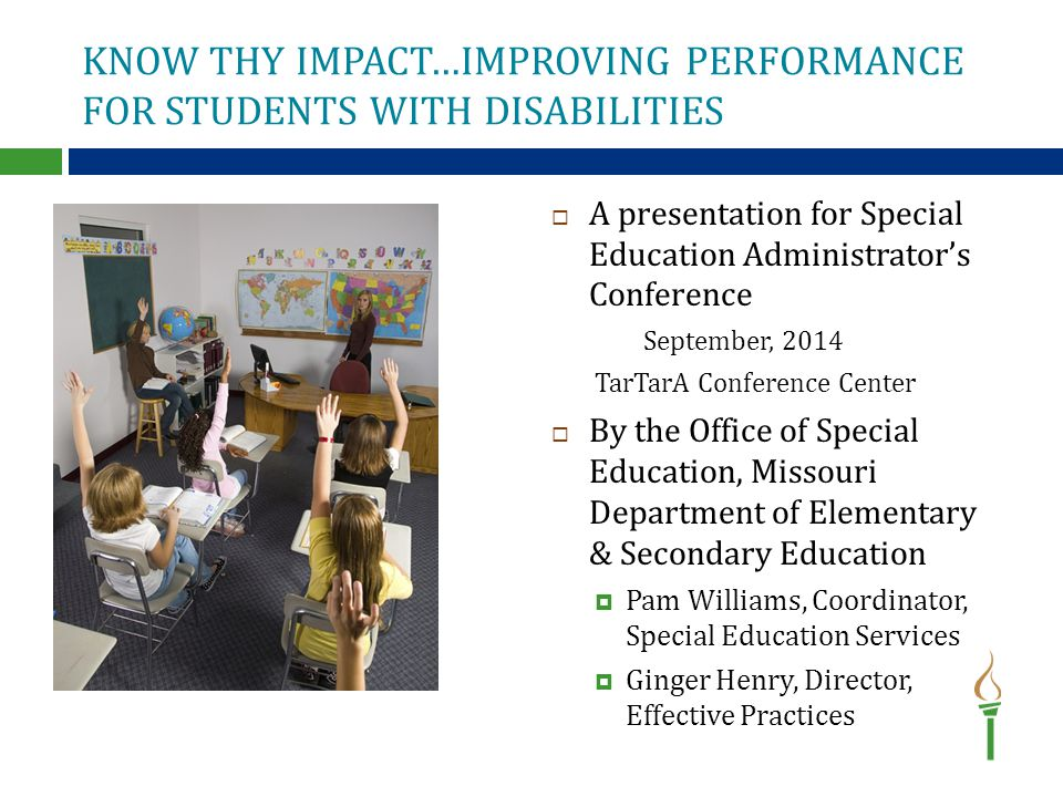Know Thy Impact—Making Learning Visible in Missouri  What are we doing.