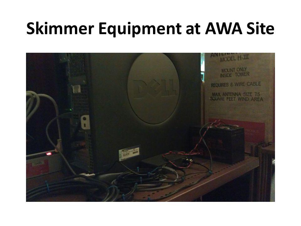 Skimmer Equipment at AWA Site