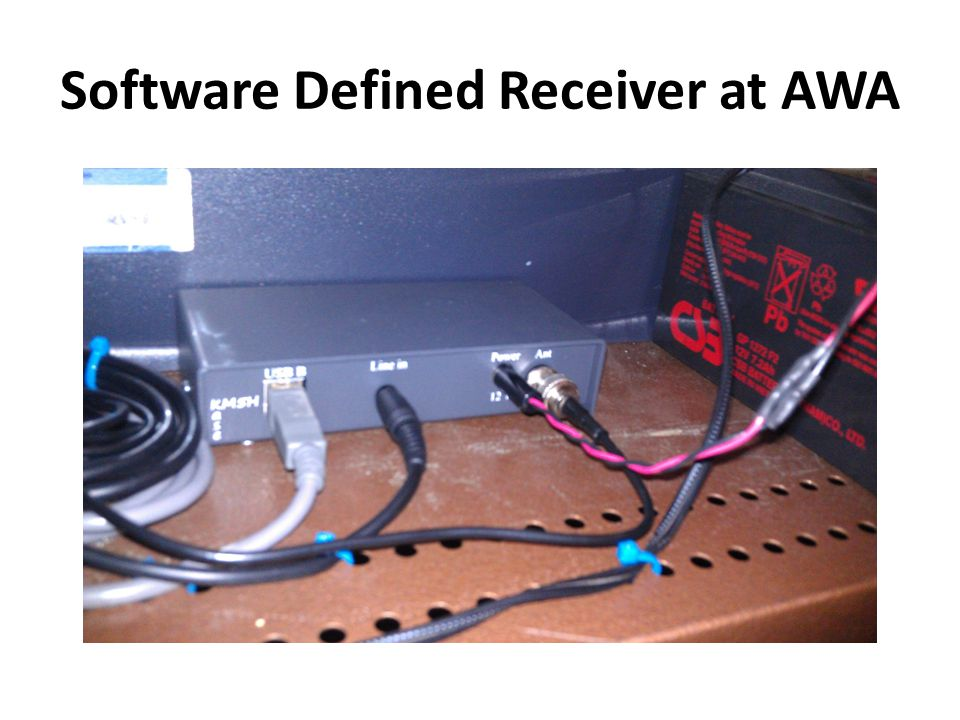 Software Defined Receiver at AWA